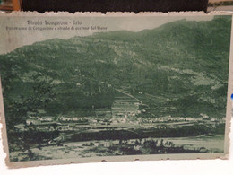Cartolina Strada Longarone Erto Panorama Di Longarone S Strada Accesso Dal Piave Prob Belluno 1917 - Belluno