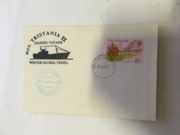 (RR 2) Tristan Da Cunha - Ship Cover Posted 1973 - M.F.V Tristania II Maiden Voyage Winter Patrol Vessel - Gough Island - Tristan Da Cunha