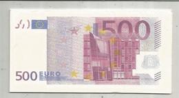 Serviette Publicitaire , Billets De Banque , 500 Euro, 2 Scans , Frais Fr 1.95 E - Company Logo Napkins