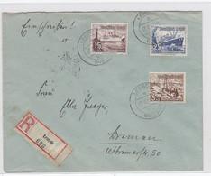 Deutsches Reich R-Brief Mit WHW-Frankatur Ab Lengde Nach Bremen AKs - Covers & Documents