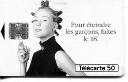 TELECARTE  France Telecom  50 UNITES  1000000 Ex.   Pour Eteindre Les Garcons Faites Le 18 - Telecom Operators