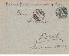Switzerland -   Letter Circulated In 1905 From Basel To Basel - Covers & Documents