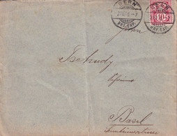 Switzerland -   Letter Circulated In 1906 From Bern To Basel - Covers & Documents