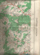 GP/ MAP Carte MILITAIRE CHATEAU-CHINON   1945 MAUX BRINAY CHOUGNY DOMMARTIN ANNAY LAMNAY - Cosne Cours Sur Loire