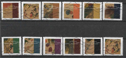 2021 FRANCE Adhesif Oblitérés, Kandinsky , Carnet Complet, 11 Timbres + 1 En Double - Adhesive Stamps