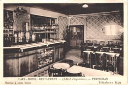 FR66 PERPIGNAN - Chauvin - Café Hôtel Restaurant SALA - Service à Toute Heure -  Belle - Perpignan