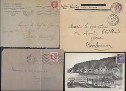 Lot Timbres De Diverses   Lettres Avec Timbres De Pétain - 1941-42 Pétain