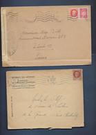Lot Timbres De Diverses   Lettres Avec  Divers Timbres De Pétain 1 Avec Marque De Controle - 1941-42 Pétain