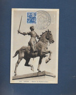Carte Souvenir  Journée Du Prisonnier Reims 1944 Timbre Jeanne D Arc - Unclassified