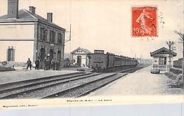 [78] Yvelines > Beynes La Gare Les Voies Carte Animée Le Train Chemin De Fer Env à Fouchet - Beynes