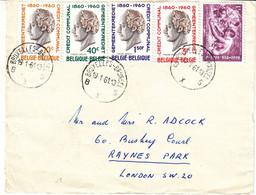 Belgique - Lettre De 1961 - Oblit Bruxelles - Valeur 10 Euros - Lettres & Documents