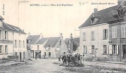 [78] Yvelines > Beynes Place De La République Un Groupe D Enfants Carte Animée Env à Chalat Versailles - Beynes