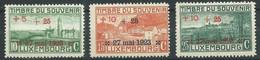 Luxembourg YT N°142/144 Timbre Du Souvenir Surchargé 27 Mai 1923 Neuf/charnière * - Unused Stamps