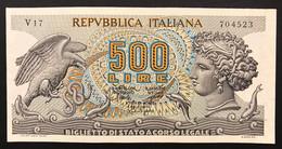 500 Lire Aretusa 20 10 1967 Spl/sup  LOTTO 3456 - 500 Liras