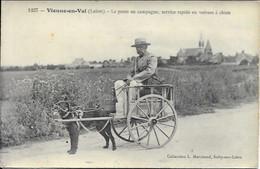 Vienne En Val La Poste En Campagne Service Rapide En Voiture à Chien  Carte Neuve - Autres Communes