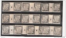 France Maury Taxe 10 (Yvert TA) *Duval 1c Millésimes De 1898 à 1907 - Millesimes