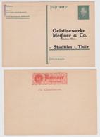 97879 DR Ganzsachen Postkarte P195 Zudruck Gelatinewerke Meißner & Co. Stadtilm - Postwaardestukken