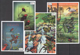 AA281 ANTIGUA & BARBUDA FAUNA BIRDS OF THE CARIBBEAN EXPO 2000 !!! 2BL+2SH MNH - Other