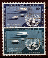 U.N.1951   AIRSTAMPS 15c BOTH COLOURS FINE USED.CAT.VALUE € 170.00 - Gebraucht