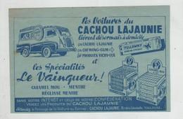 Les Voitures Du Cachou Lajaunie Toulouse Les Spécialités Du Vainqueur  1954 - Pubblicitari