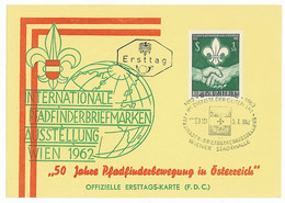 SC 50 - 444 Scout AUSTRIA - Cover - Used - 1962 - Cartas