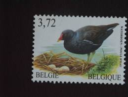 België Belgique Belgium 2003 Vogels Oiseaux Buzin Waterhoen Poule D'eau 3212 MNH ** - 1985-.. Vogels (Buzin)
