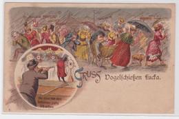 71489 Ak Lithographie Gruß Vom Vogelschießen Lucka Um 1900 - Zonder Classificatie