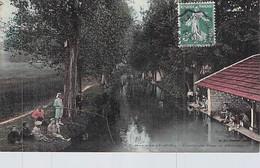78 Yvelines Beynes La Mauldre Au Pont De L étendard  Le Lavoir Les Enfants Env à Fontaine Maule - Beynes