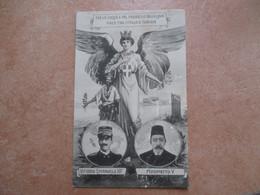 MILITARIA Vittorio Emanuele III Maometto V Pace Tra Italia E Turchia Italia Alata Ramoscello Olivo - Historical Famous People