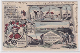 42646 Ak Lithographie 600jähriges Stadtjubiläum & Heimatfest Stadt Lucka 1907 - Zonder Classificatie