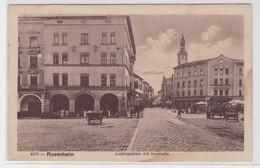 03199 Feldpost AK Rosenheim - Ludwigsplatz Mit Innstraße, Straßenansicht 1915 - Sin Clasificación