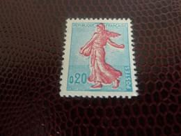 Semeuse De Piel D'après Roty - 20c. - Turquoise Et Rose - Neuf Sans Gomme - Année 1960 - - Nuovi