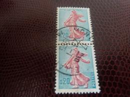 Semeuse De Piel D'après Roty - 20c. - Turquoise Et Rose - Double Oblitérés - Année 1960 - - Usati