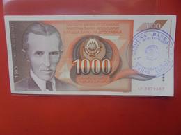 BOSNIE-HERZEGOVINE 1000 DINARA Peu Circuler/ Neuf (B.23) - Bosnia And Herzegovina
