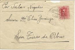 CARTA POLA DE SOMIEDO - SAN TIRSO DE ABRES  1924   NL645 - Cartas