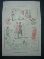 AFFICHE WW1 1917 (Dessin) TENRE. Deauville En 1917 ( TROTTINETTE, GOLF) / BARRERE. Michaëlis (MARIONNETTE) - Posters