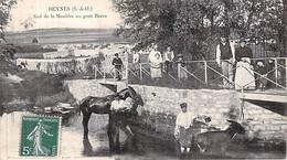 78 Yvelines Beynes Rafraichissement Du Cheval Et De L'âne Au Pont Barra Carte Animée Env à Foucherez Chef Cantonnier - Beynes