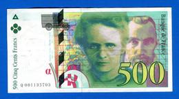 500 Fr  1994 - 500 F 1994-2000 ''Pierre Et Marie Curie''