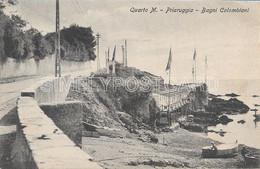 CARTOLINA QUARTO M. - PRIARUGGIA BAGNI COLOMBIANI - ANIMATA VIAGGIATA 1912 - M96 - Genova