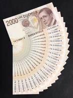 2000 LIRE 1990 Guglielmo Marconi 20 Es. Consecutivi FDS LOTTO 3463 - 2000 Lire
