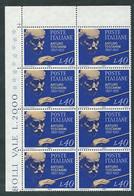 Italia 1967; Centenario Nascita Di Arturo Toscanini: Blocco D' Angolo Di 8 Valori = 2 Quartine - 1961-70: Mint/hinged