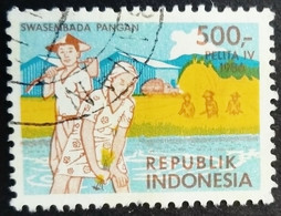 Indonésie Indonesia 1986 Agriculture Riz Rice Yvert 1083 O Used - Ohne Zuordnung