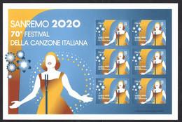 Italia 2020; Festival Della Canzone Italiana A Sanremo, 70° Anniversario: Foglietto Di 6 Valori - 2011-...: Mint/hinged