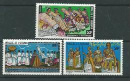 Wallis Et Futuna N° 221/23 XX  Coutumes Et Traditions , Sans Charnière TB - Unused Stamps