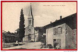 CPA 01 PONT D'AIN Eglise Et Place De L'église - Altri Comuni