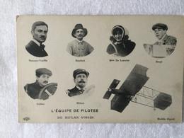 Aviation -L'équipe De Pilote Du Biplan Voisin -16 - Manifestaciones