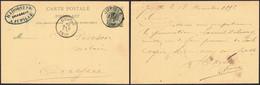 """EP Au Type 5ctm Vert Obl Simple Cercle """"Jupille"""" (1892) > Ougrée + Cachet Privé """"H. Lhoest & Fils, Brasseur"""" / Brasserie - Postkaarten [1871-09]"""