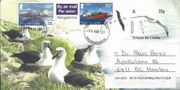 Tristan Da Cunha 2021 Atlantic Yellow-nosed Albatross Thalassarche Chlororhynchose Mail Ship Carlisle MV RSA Aerogramme - Tristan Da Cunha