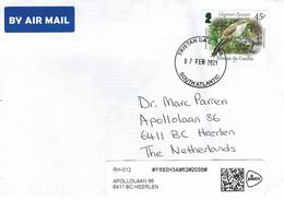 Tristan Da Cunha 2021 Yellow-billed Cuckoo Coccyzus Americanus Cover - Tristan Da Cunha
