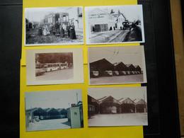 Photo ,TRAMWAY Et Gares INDRE Et LOIRE , Collection Bourneuf ,lire Descriptif ,Tours ,dépôt - Trains